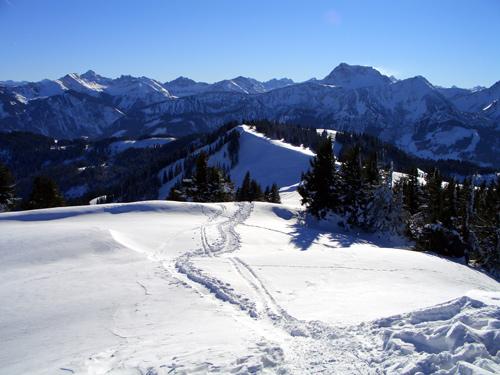Foto: vince 51 / Wander Tour / Schneeschuhwanderung auf den Schönkahler / Blick nach Süden / 29.12.2006 22:52:44
