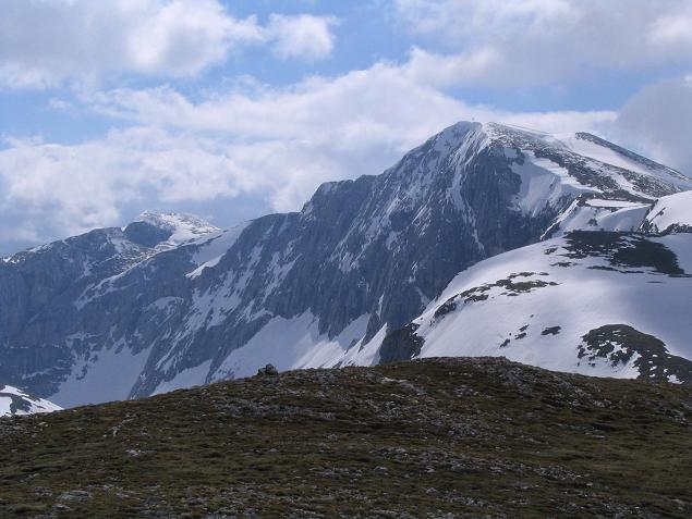 Foto: Andreas Koller / Wandertour / Durch das Seetal ins Herz des Hochschwabs (2277 m) / Hochschwab vom Wetterkogel / 22.04.2007 22:40:02