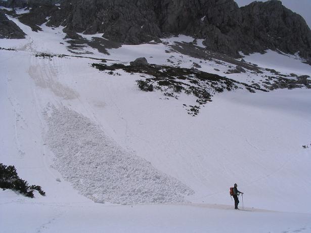 Foto: Andreas Koller / Wandertour / Durch das Seetal ins Herz des Hochschwabs (2277 m) / Lawinenkegel in der Oberen Dullwitz am 11.06.2006 / 22.04.2007 22:36:10