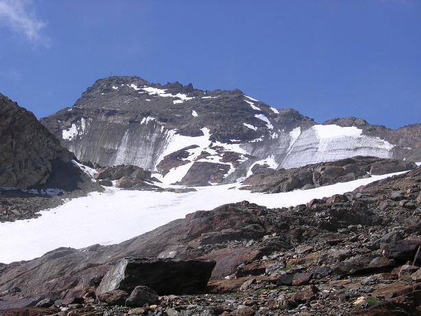 Foto: Andreas Koller / Wander Tour / Hintere Eggenspitze - auf den höchsten Gipfel über dem Ultental (3443 m) / Die Hintere Eggenspitze von NO / 26.04.2007 22:09:56