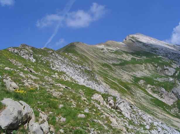 Foto: Andreas Koller / Wander Tour / Vom Spullersee auf den Spuller Schafberg (2679 m) / Der Grat auf den Schafberg / 24.04.2007 12:57:05