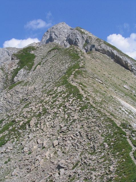 Foto: Andreas Koller / Wander Tour / Vom Spullersee auf den Spuller Schafberg (2679 m) / Der steile Anstieg auf den Schafberg / 24.04.2007 12:58:38