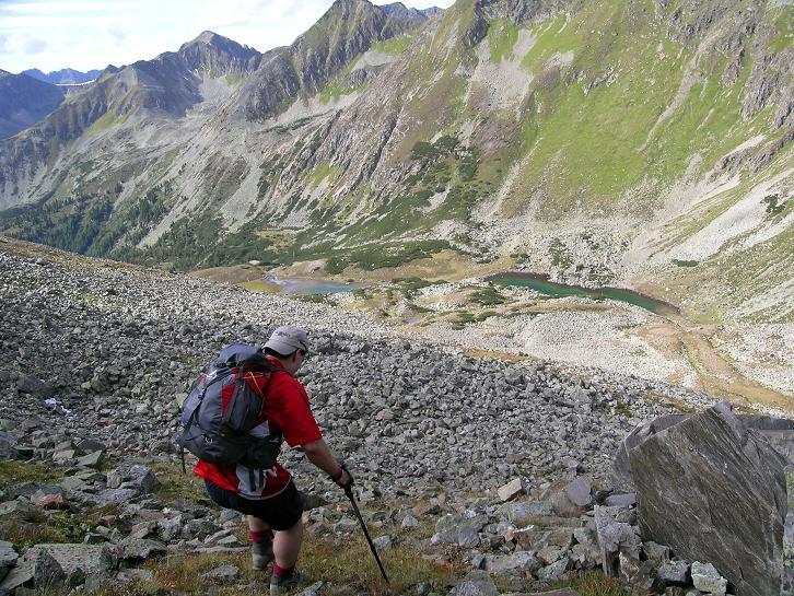 Foto: Andreas Koller / Wander Tour / Rupprechtseck - Runde (2591 m) / Wegloser Steilabstieg zu den Sauofenseen / 29.04.2007 23:55:50