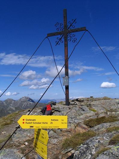 Foto: Andreas Koller / Wander Tour / Rupprechtseck - Runde (2591 m) / Gipfelkreuz am Rupprechtseck / 29.04.2007 23:54:18