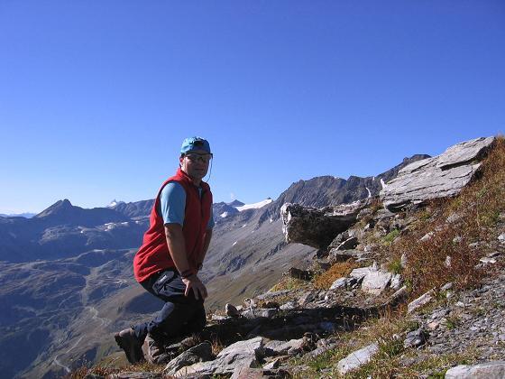 Foto: Andreas Koller / Wander Tour / Jamnighütte - Feldseekopf - Hagenerhütte (2864 m) / In der Feldseescharte / 27.04.2007 20:07:16
