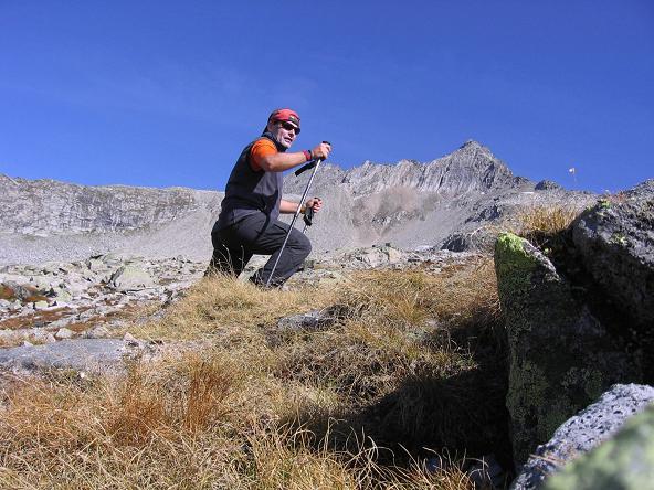 Foto: Andreas Koller / Wander Tour / Auf die Zillerplattenspitze (3148 m) / Anstieg zur Zillerplattenspitze (im Hintergrund) / 07.05.2007 22:10:09