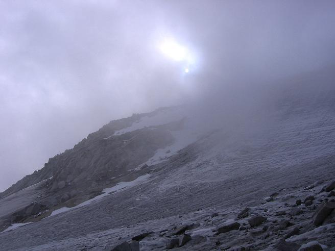 Foto: Andreas Koller / Wander Tour / Vom Neves-Stausee auf den Großen Möseler (3480 m) / Nebel im Abstieg / 06.05.2007 22:42:00