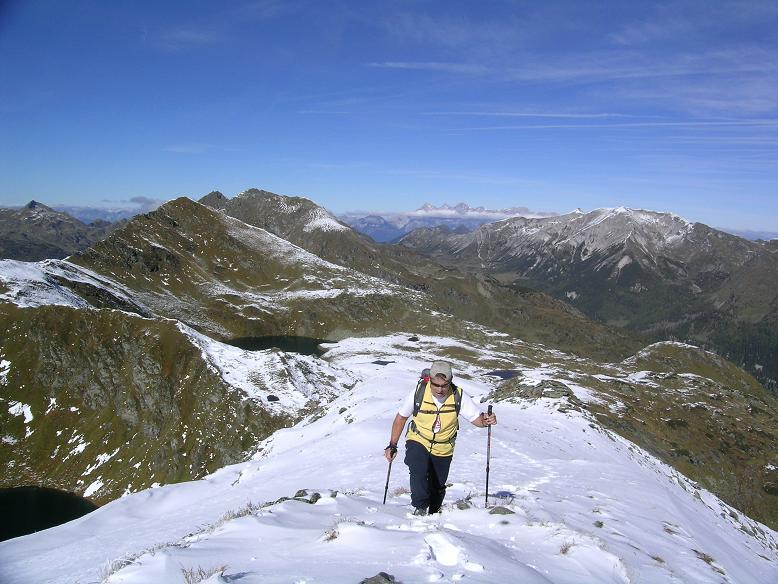 Foto: Andreas Koller / Wander Tour / Aus dem Weißpriachtal auf Gurpitscheck und Gollitschspitze (2526 m) / Hier noch breit: der N-Grat / 06.05.2007 15:38:53