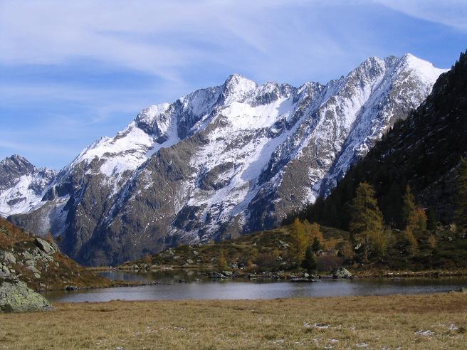Foto: Andreas Koller / Wander Tour / Aus dem Weißpriachtal auf Gurpitscheck und Gollitschspitze (2526 m) / Unterer Schönalmsee / 06.05.2007 15:36:50