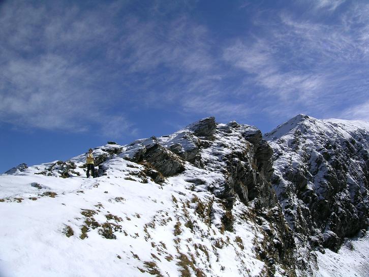 Foto: Andreas Koller / Wander Tour / Aus dem Weißpriachtal auf Gurpitscheck und Gollitschspitze (2526 m) / Verschneiter N-Grat / 06.05.2007 15:38:29