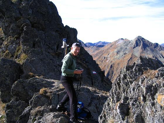 Foto: Andreas Koller / Wandertour / Aus dem Eselsberggraben auf Schoberspitze und Talkenschrein (2423 m) / In der Gipfelscharte / 05.05.2007 10:55:25