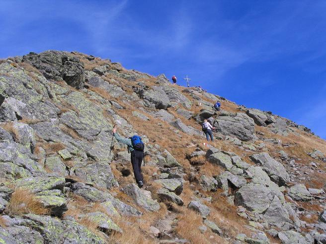 Foto: Andreas Koller / Wandertour / Aus dem Eselsberggraben auf Schoberspitze und Talkenschrein (2423 m) / Die letzten Meter zum Gipfel / 05.05.2007 10:56:10