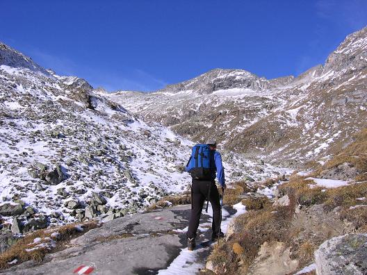 Foto: Andreas Koller / Wander Tour / Lanisch Seen und Oblitzen (2658 m) / Aufstieg zu den Lanisch Seen / 27.04.2007 22:57:12