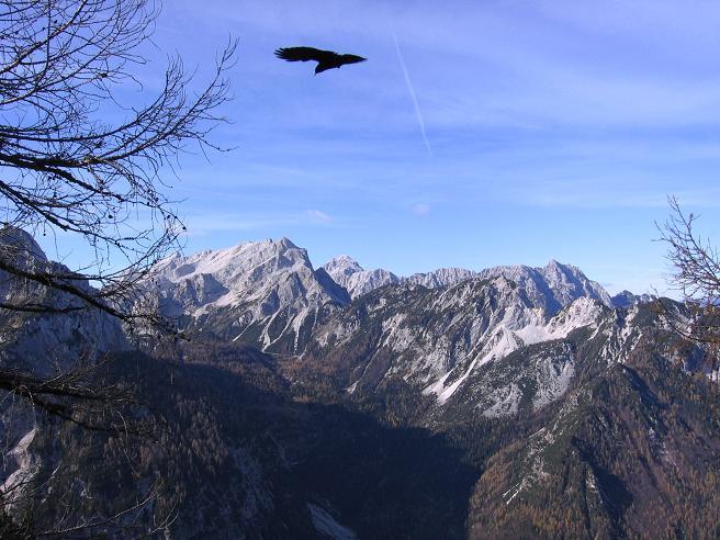 Foto: Andreas Koller / Wandertour / Spik - Überschreitung (2473 m) / Blick nach W auf die Mojstrovka (2336 m) / 26.04.2007 22:39:16