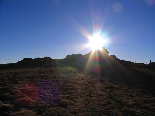 Foto: Andreas Koller / Wandertour / Vom Klippitztörl über die Große Saualpe (2079 m) / Abendstimmung im Abstieg / 26.04.2007 21:46:59