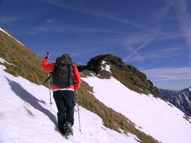 Foto: Andreas Koller / Wander Tour / Drei Gipfel über dem steirischen Bärntal (2386 m) / Ca. 30 Min. unterhalb des Gipfels / 09.01.2007 02:04:48