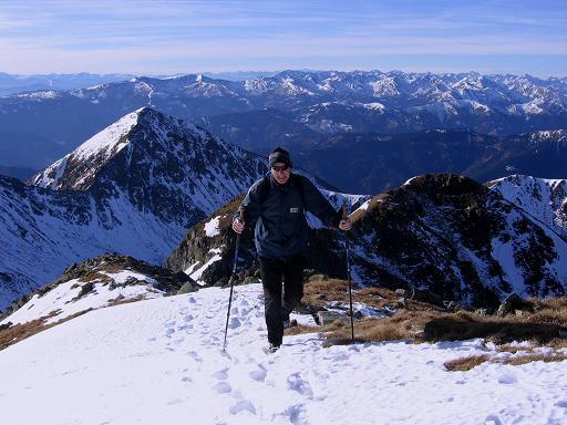 Foto: Andreas Koller / Wander Tour / Drei Gipfel über dem steirischen Bärntal (2386 m) / Am SW-Grat der Gamskögel / 09.01.2007 02:03:54