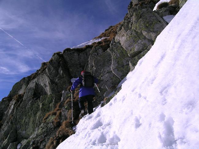 Foto: Andreas Koller / Wander Tour / Drei Gipfel über dem steirischen Bärntal (2386 m) / Leichte Kletterei und eventuell unangenehmer Schnee an der Schlüsselstelle / 09.01.2007 02:03:27