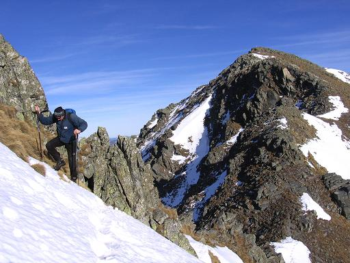 Foto: Andreas Koller / Wander Tour / Drei Gipfel über dem steirischen Bärntal (2386 m) / Die Schlüssenstelle im Aufstieg zu den Gamskögel / 09.01.2007 02:02:54