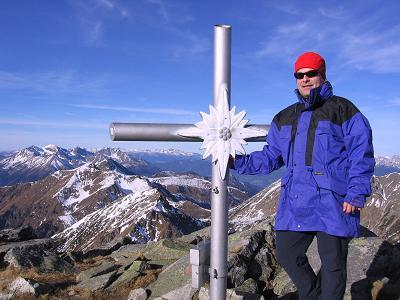 Foto: Andreas Koller / Wander Tour / Drei Gipfel über dem steirischen Bärntal (2386 m) / Gipfelglück auf den Gamskögel / 09.01.2007 02:02:22