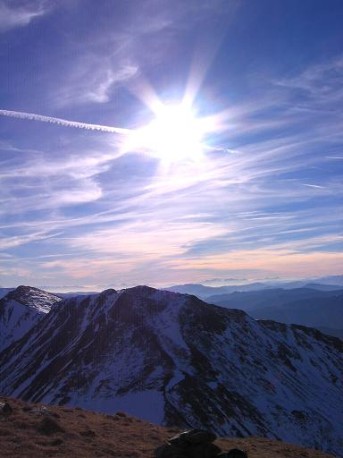 Foto: Andreas Koller / Wander Tour / Drei Gipfel über dem steirischen Bärntal (2386 m) / Blick im Abstieg von den Ganskögel nach Süden / 09.01.2007 02:02:00