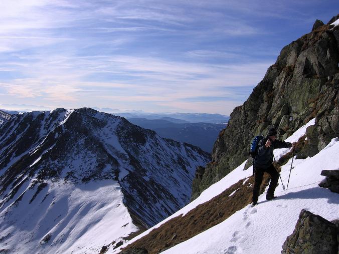 Foto: Andreas Koller / Wander Tour / Drei Gipfel über dem steirischen Bärntal (2386 m) / Nach der Schlüsselstelle / 06.05.2007 14:56:27