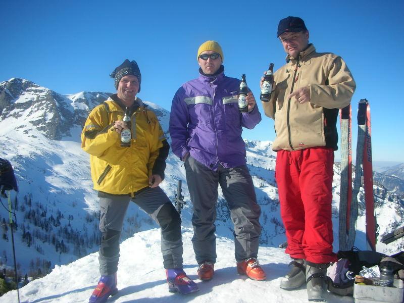 Foto: Andreas Steiner / Ski Tour / Weißhorn (1755m) / ein wunderbarer Tag am Gipfel des Weisshorns / 30.01.2007 15:11:41