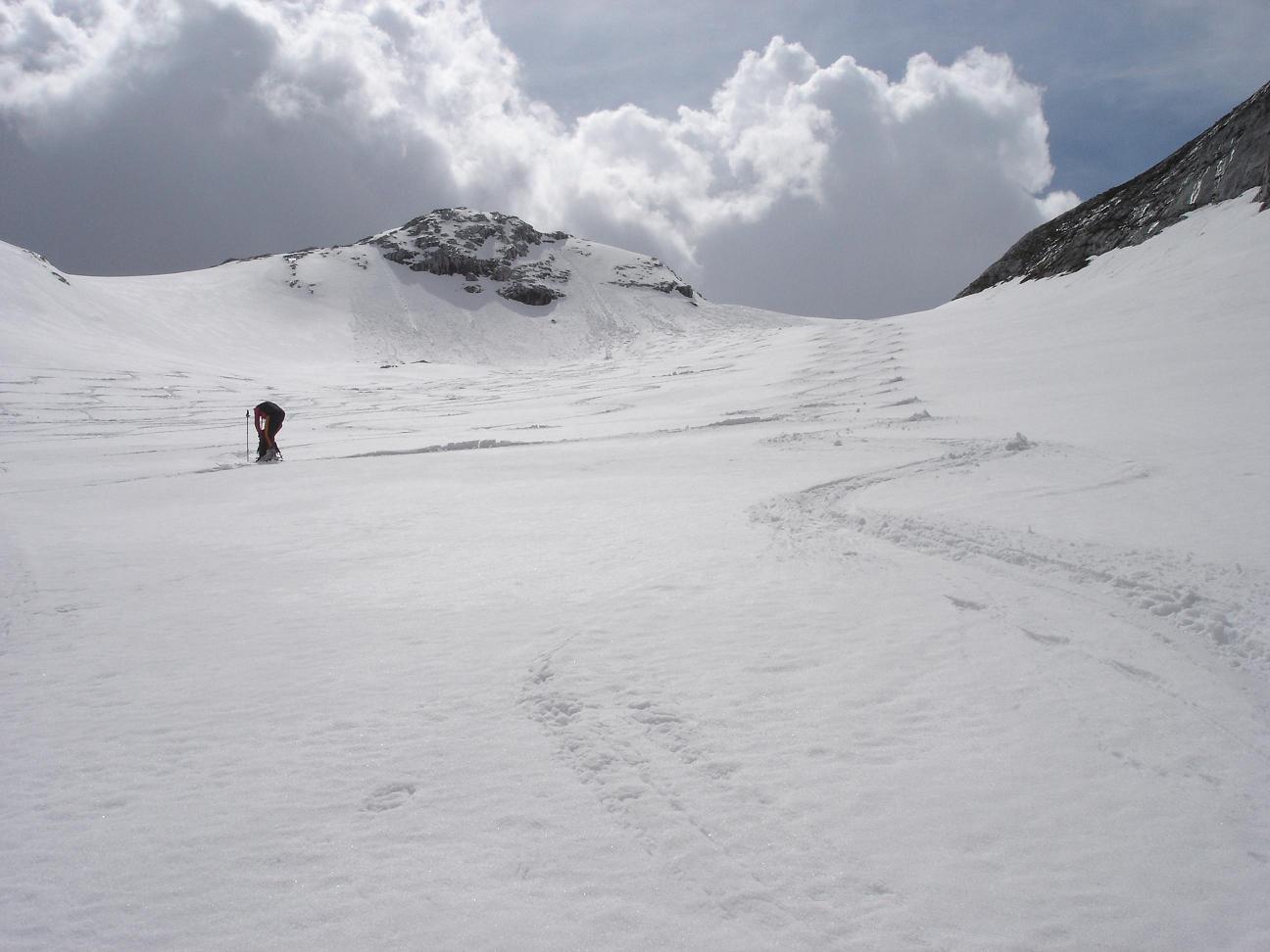 Foto: Sebastian Stoib / Ski Tour / Brandhorn (2610m) / bester Firn am 1.Mai bei der Abfahrt im Tauchertal / 04.01.2007 20:19:02