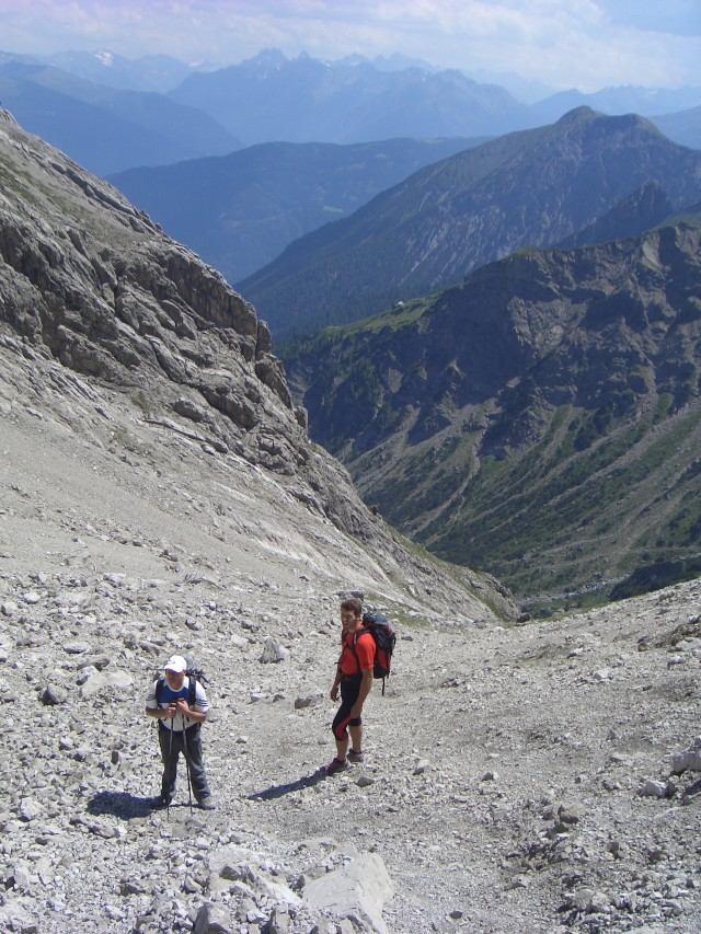 Foto: gre weg / Klettersteig Tour / Imster Klettersteig / Abstieg / 31.07.2007 00:03:42