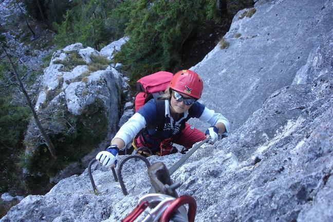 Foto: Werner / Klettersteig Tour / Ewige Wand-Klettersteig und Leadership-Klettersteig / ... der Ausstieg / 18.03.2007 10:55:35