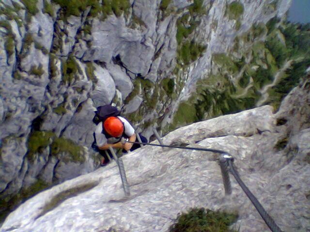 Klettersteig Oberösterreich : Alpintouren.com klettersteig tour traunsee