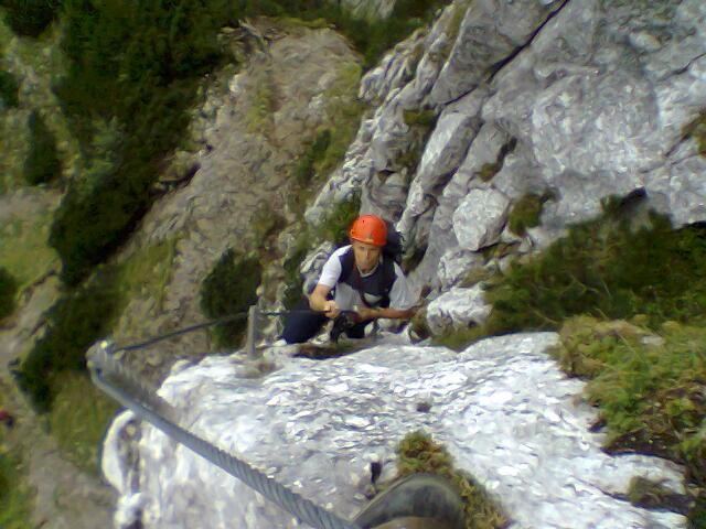 Klettersteig Traunstein : Alpintouren.com klettersteig tour traunsee