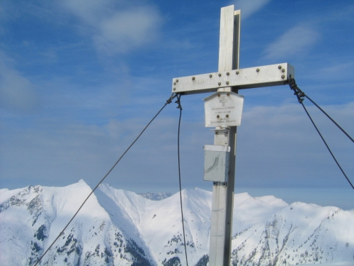 Foto: Christian Suschegg / Skitour / Kreuzköpfl (2094m) / Gipfelkreuz am Kreuzköpfl / 03.01.2007 12:36:16