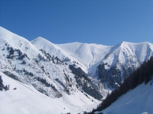 Foto: Christian Suschegg / Skitour / Kreuzköpfl (2094m) / Tiefblick ins hintere Sulzbachtal mit herrlicher Gipfeleinrahmung / 03.01.2007 12:48:04