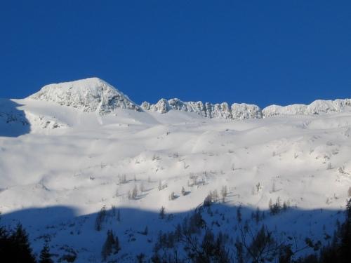 Foto: Christian Suschegg / Skitour / Deichselspitze (2684m) / Blick von der Putzentalalm über das obere Aufstiegsgebiet / 03.01.2007 18:07:47