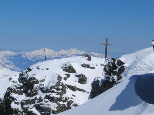 Foto: Christian Suschegg / Skitour / Deichselspitze (2684m) / Das Gipfelkreuz auf der aussichtsreichen Deichelspitze / 03.01.2007 18:03:36