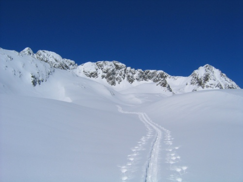 Foto: Christian Suschegg / Skitour / Deichselspitze (2684m) / Unterwegs im herrlichen Weitkar / 03.01.2007 18:07:22