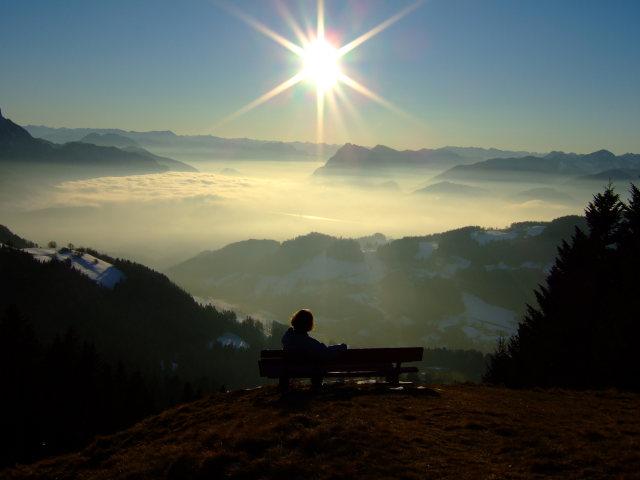 Foto: Johanna Kagerer / Wandertour / Von Wildbichl auf die Karspitze / Herrlicher Ausblick auf das Inntal / 10.01.2007 11:41:47