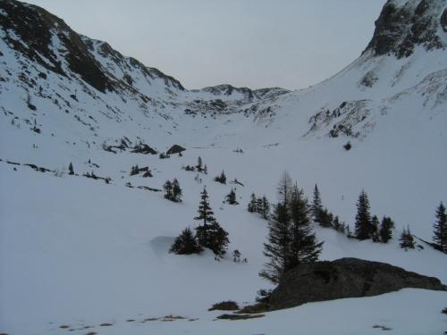 Foto: Christian Suschegg / Ski Tour / Laubtaleck (2230m) / Durch ein weites Kar führt der Weg hinauf zur Blaufeldscharte / 04.01.2007 18:01:05