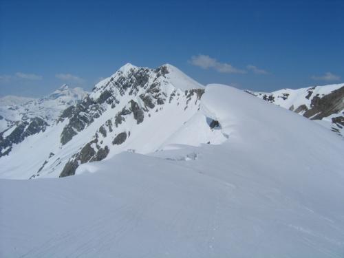 Foto: Christian Suschegg / Skitour / Von der Felseralm auf die Glöcknerin (2433m) / Am Westgrat sollte man nicht zu nah an die Gratkante gehen / 05.01.2007 08:50:18