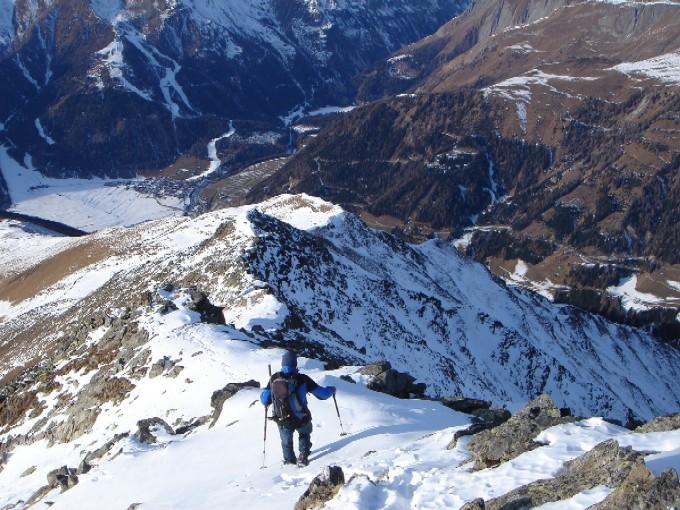Foto: Manfred Karl / Wander Tour / Schönleitenspitze / Abstieg im oberen Teil des Lesacher Riegels / 21.01.2007 07:00:01