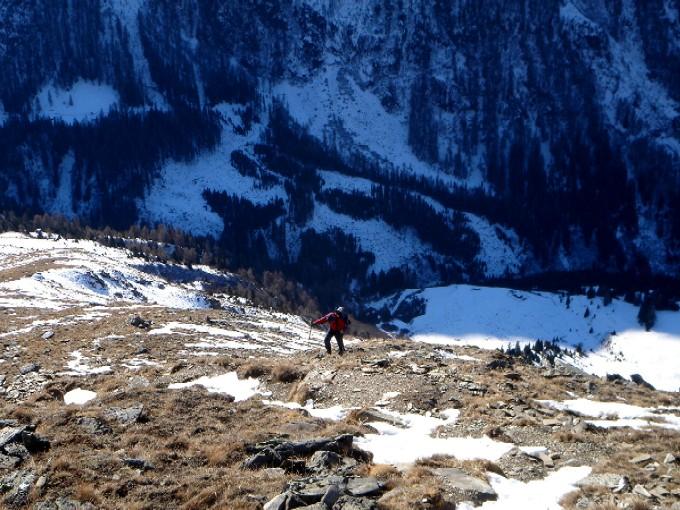 Foto: Manfred Karl / Wander Tour / Schönleitenspitze / Ganz schön steil ist der Weg hinauf zur Schönleitenspitze - hier scheint der Name der schönen