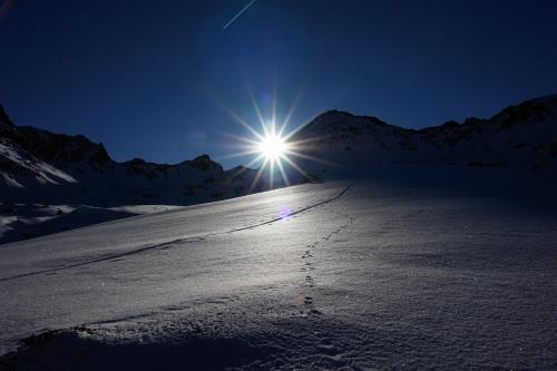 Foto: Christian Suschegg / Ski Tour / Über den Giglachsee auf Sauberg und Vetternspitzen (2524m) / Unterwegs bei herrlichem Pulverschnee im Vetternkar / 05.01.2007 13:52:51