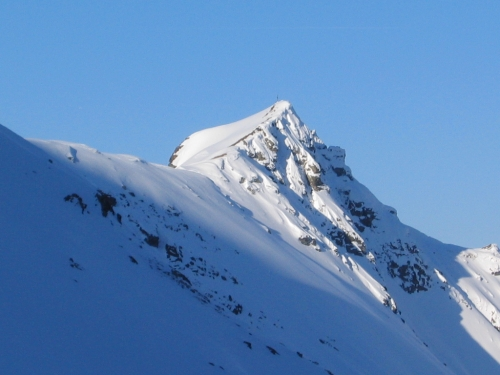 Foto: Christian Suschegg / Ski Tour / Vom Obertal auf den Zwerfenberg (2642m) / Beim Aufstieg: Nördlich an der Samspitze vorbei / 05.01.2007 14:54:30