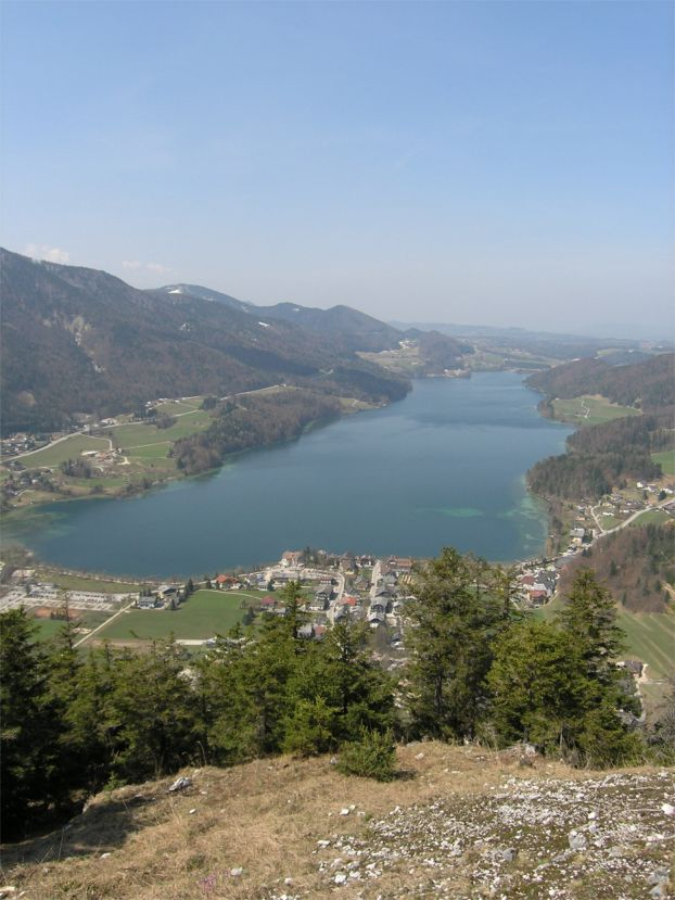Foto: Benedik Herbert / Wander Tour / Ellmaustein - Traumaussichtsberg auf den Fuschlsee / Ausblick auf den Fuschlsee / 07.01.2007 19:24:40