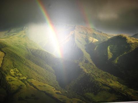 Foto: Andreas Koller / Wander Tour / Durch Regenwald auf den Pasochoa (4200 m) / Der Pasochoa von NW bei Gewitterregen / 09.01.2007 02:20:51