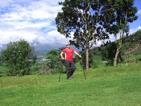 Foto: Andreas Koller / Wander Tour / Durch Regenwald auf den Pasochoa (4200 m) / Am Ausgangspunkt und Eingang zum Pasochoa-Naturpark / 09.01.2007 02:20:23