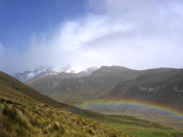 Foto: Andreas Koller / Wander Tour / Im ewigen Eis des Cayambe (5794 m) / Annäherung zum Cayambe durch ein sehr langes Hochtal / 09.01.2007 04:48:43