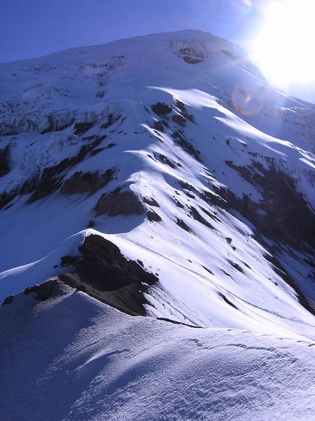 Foto: Andreas Koller / Wander Tour / Chimborazo - König der Anden Ecuadors (6310 m) / Der W-Grat als Himmelsleiter / 10.01.2007 03:04:08