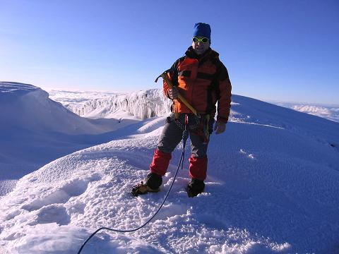 Foto: Andreas Koller / Wander Tour / Chimborazo - König der Anden Ecuadors (6310 m) / Glücklicher Gipfelsieg am Chimborazo / 10.01.2007 03:06:48